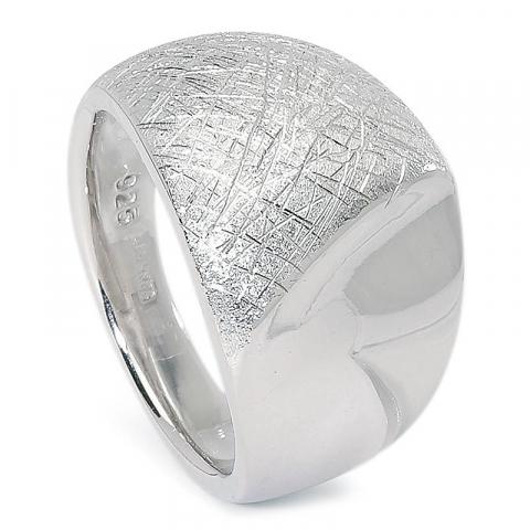 Bred strukturerad ring i silver