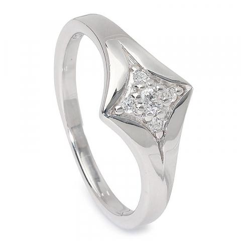 Söt stjärna zirkon ring i silver