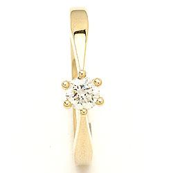 diamant guld ring i 14  karat guld 0,30 ct