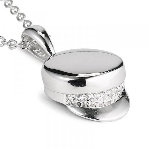 Ankerhalskedja i silver med studentmössa i silver